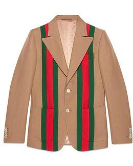 Heritage Web Tape Crêpe Wool Jacket