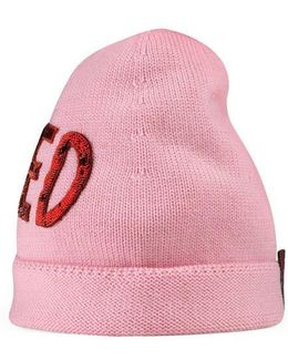 """Wool Hat With Sequin """"loved"""