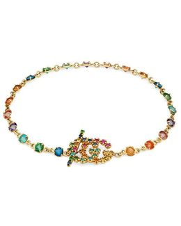 Double G Bracelet With Multicolor Stones
