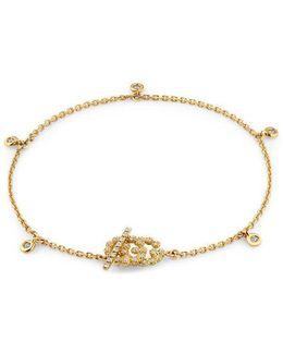 Double G Bracelet With Diamonds