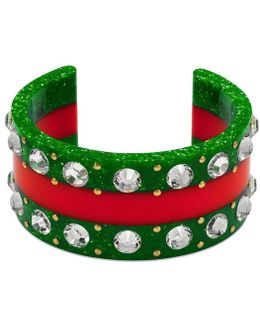 Web Cuff With Crystals