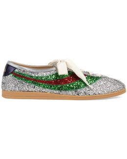 Falacer Glitter Sneaker With Web
