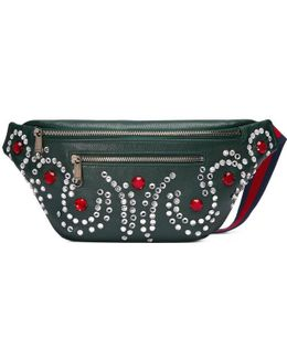 Leather Belt Bag With Crystals
