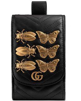 Gg Marmont Animal Studs Belt Accessory