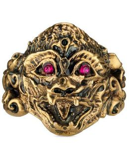 Monkey Head Ring