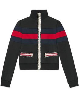 Technical Jersey Zip Up Jacket