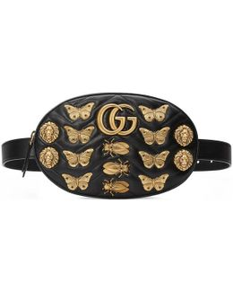 Gg Marmont Animal Studs Leather Belt Bag