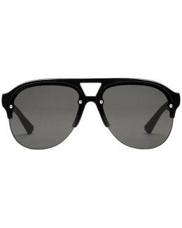 Aviator Rubber Sunglasses