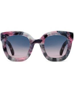 Round-frame Acetate Sunglasses With Star