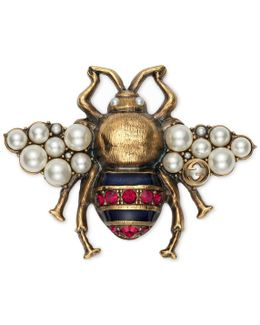 Bee Brooch With Crystals And Pearls