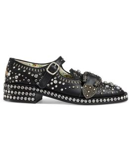 Queercore Brogue Shoe With Crystals