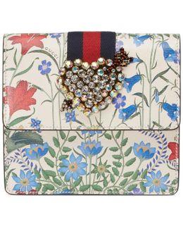 Totem New Flora Print Leather Clutch