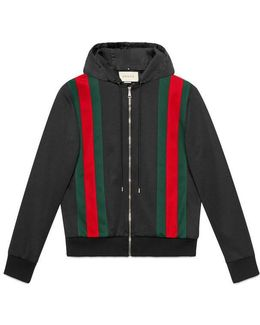 Technical Jersey Bomber With Hood