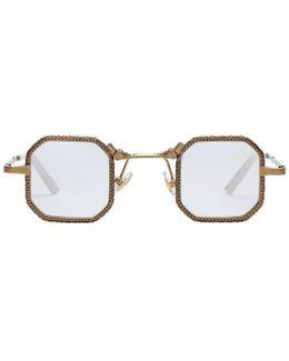 Square-frame Metal Glasses
