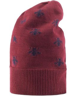 Bees And Stars Wool Hat