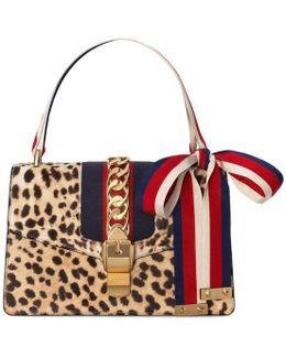 Sylvie Leopard Print Shoulder Bag