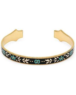 Icon Bracelet In Yellow Gold With Enamel