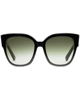 Square-frame Acetate Sunglasses With Web