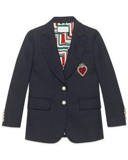 Embroidered Single-breasted Jacket