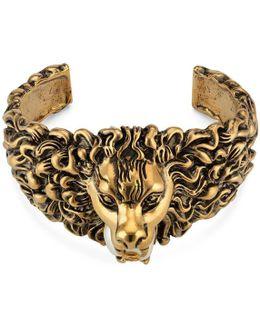 Lion Head Cuff Bracelet In Metal