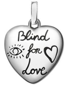 Blind For Love Charm In Silver