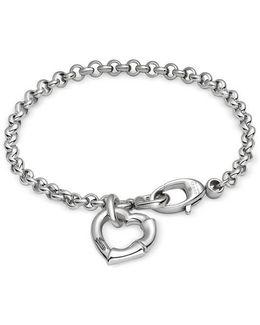 Bamboo Bracelet In Silver