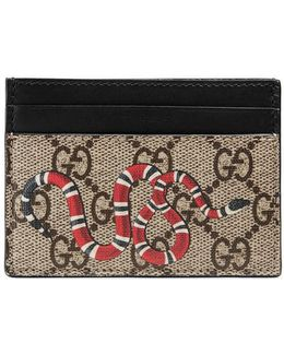 Snake Print Gg Supreme Card Case