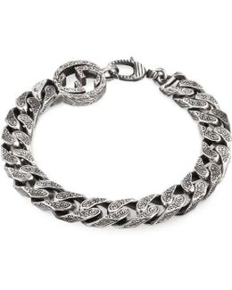 Interlocking G Chain Bracelet In Silver