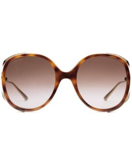 Injected Round-frame Sunglasses