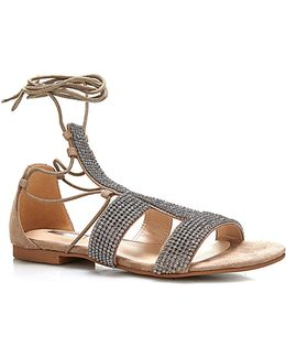 Faya Sandal With Tie Straps