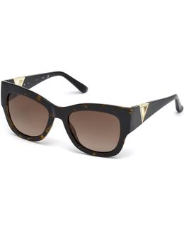 Sunglasses With Rhinestone Triangle