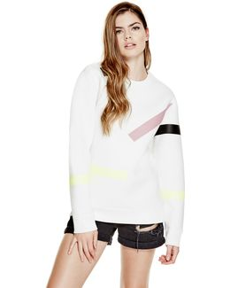 Sweatshirt With Geometric Details