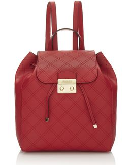 Aria Strap Pattern Backpack