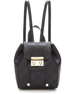 Aria Quilted Pattern Mini Backpack