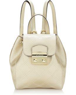 Aria Strap Pattern Mini Backpack