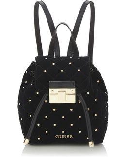 Cornelia Velvet Mini Backpack