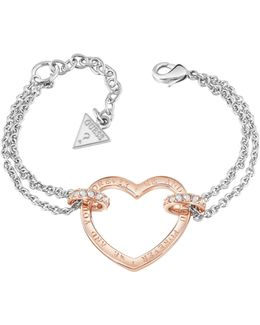 Bracelet With Rose Gold Plated Heart