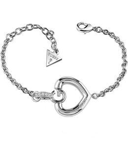 Gisèle Rhodium-plated Heart Bracelet