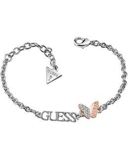 Mariposa Rose Gold Plated Butterfly Logo Bracelet