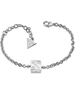 Rolling Dice Rhodium-plated Bracelet