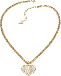 Basic Instinct Heart Chain Pendant Gold-plated Necklace