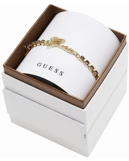 My In A Box Logo Smoked Topaz Stones Yellow Gold-plated Bracelet