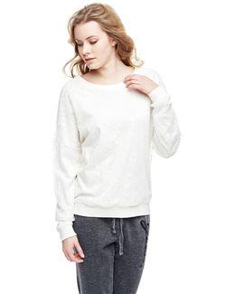 Long-sleeve Sweatshirt With Floral Print