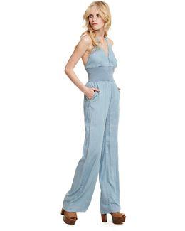 Bell-bottom Jeans Jumpsuit