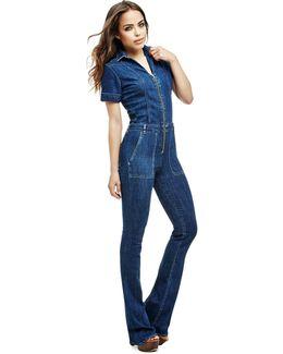 Flared Jeans Jumpsuit