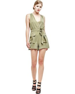 Short Jumpsuit With Pockets
