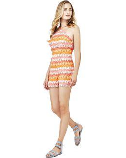 Crochet Pattern Striped Jumpsuit