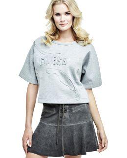Short-sleeve Logo Sweatshirt