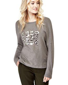 Sweatshirt With Jewel Details