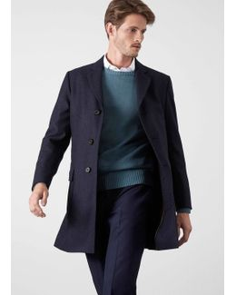 Solid Double-faced Wool Coat